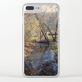 Trickle of water Clear iPhone Case