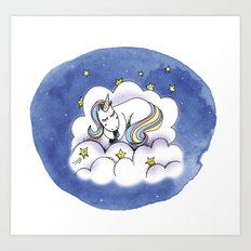 Licorne Art Print