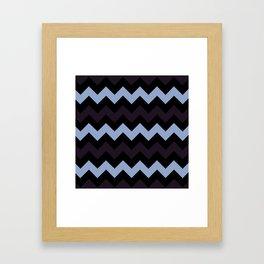 Chevron Makes Me Happy Framed Art Print