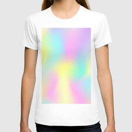 Holographic Iridescence Trendy Multi colored Vibrant Pattern  T-shirt