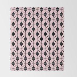 Dirty Martini // Black + Pink Throw Blanket