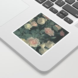 Roses in the dark Sticker