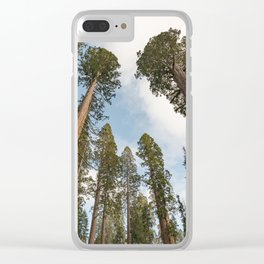 Redwood Sky - Giant Sequoia Trees Clear iPhone Case