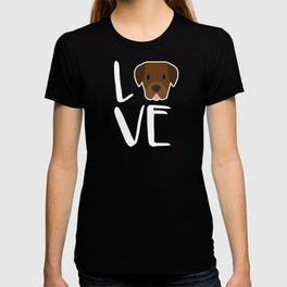 Labrador Retriever Dog Gift I Love My Chocolate Lab Gifts T-shirt