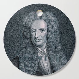 Gravity / Vintage portrait of Sir Isaac Newton Cutting Board