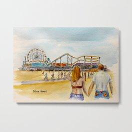 Santa Monica Pier Ferriswheel Metal Print