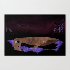 Like Fins For Feet : Sleep A While Canvas Print