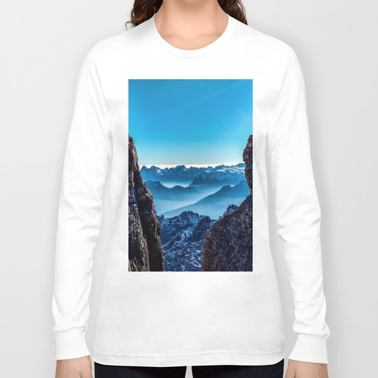 Moutain sky ice blue Long Sleeve T-shirt