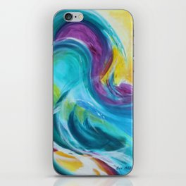 Colourful Abstract Waves iPhone Skin