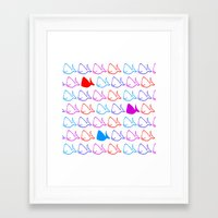 whales Framed Art Prints featuring Whales by kirstenariel