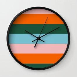 Color Stripe_007 Wall Clock