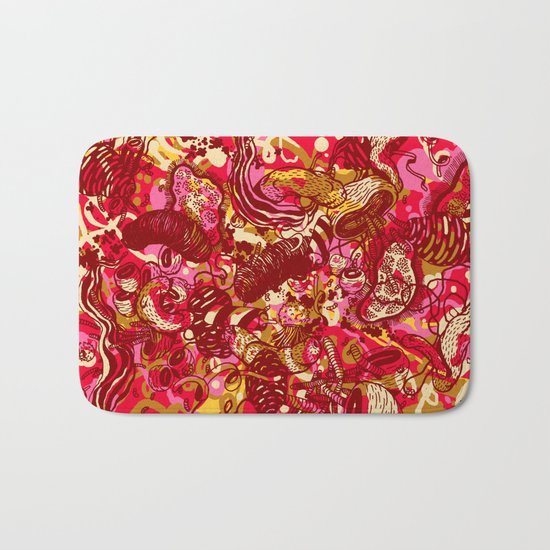 Red hot day Species Bath Mat