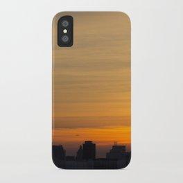 skyline brushstrokes iPhone Case