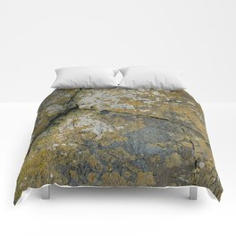 Ancient Rocks with Lichen Texture Comforters