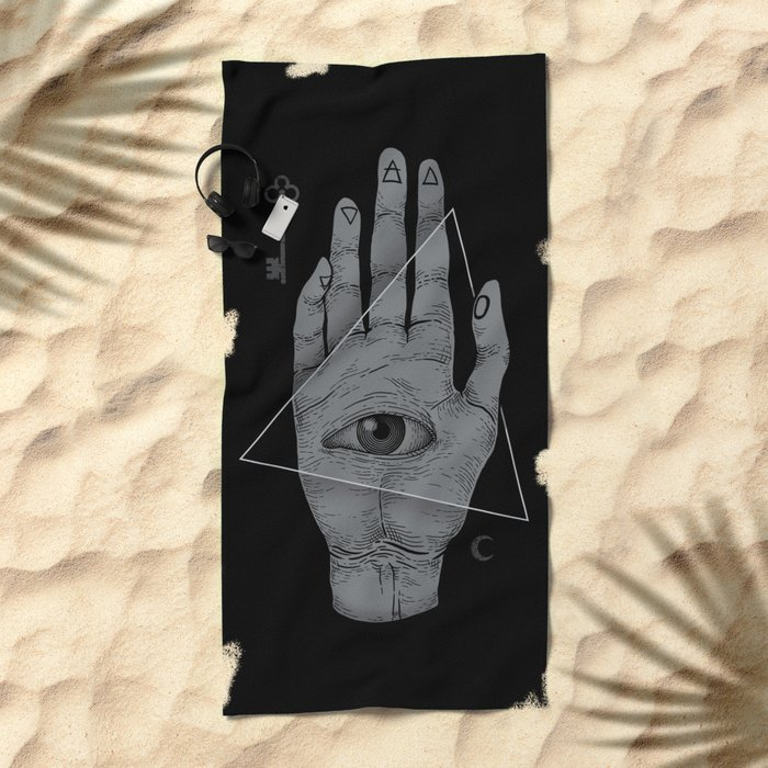 Witch Hand Beach Towel