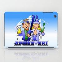 ski iPad Cases featuring Après-ski by Cardvibes.com - Tekenaartje.nl