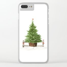 Christmas In The Country Clear iPhone Case