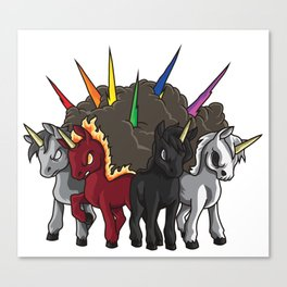 The Four Unicorns Of The Apocalypse Canvas Print