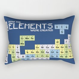 How The Elements Were Created Rectangular Pillow