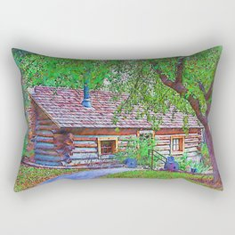 The Ranch House Sketched Rectangular Pillow
