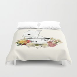 Green Leaves Me Duvet Cover