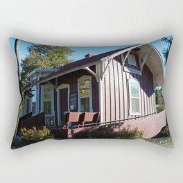 Peninsula Ohio Depot Rectangular Pillow