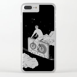 Slow Ride Clear iPhone Case