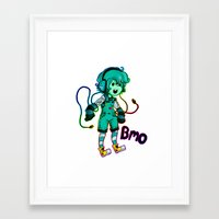 bmo Framed Art Prints featuring BMO! by Beelzey-Soda