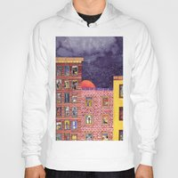 city Hoodies featuring City by Dawn Patel Art