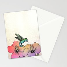 Hummingbird and Hibiscus Stationery Cards