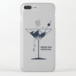 Fresh Air Cocktail Clear iPhone Case