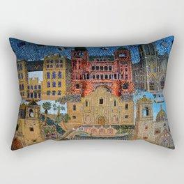 Tiled Mosaic Rectangular Pillow