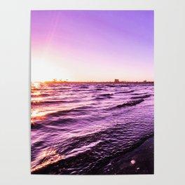 Mission Bay Riverboat Sunset in San Deigo, California Poster