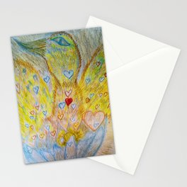 Pheonix rising out of Lotus Stationery Cards