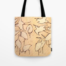 "Katsushika Hokusai ""Cranes from Quick Lessons in Simplified Drawing"" (1823)(original) Tote Bag"