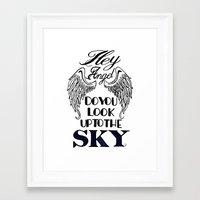 larry stylinson Framed Art Prints featuring Hey Angel (Larry Stylinson) by Arabella