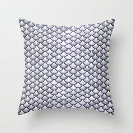 Silver Scales Throw Pillow