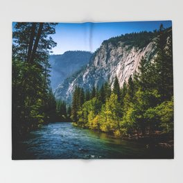 Majestic Yosemite Throw Blanket