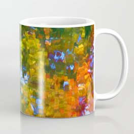 Fall leaves on river 7 Coffee Mug