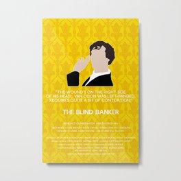 The Blind Banker - Sherlock Holmes Metal Print