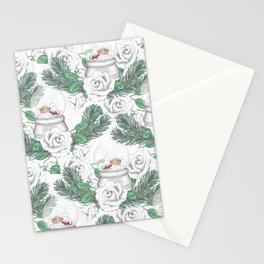 Snow globes and roses Stationery Cards