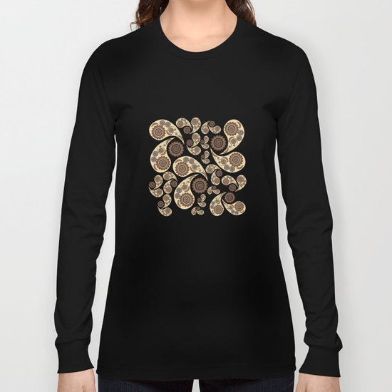 Paisley Pattern Long Sleeve T-shirt