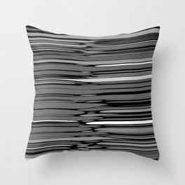 ASH - grey & black variegation Throw Pillow