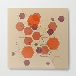 Hexagon Autumn Metal Print