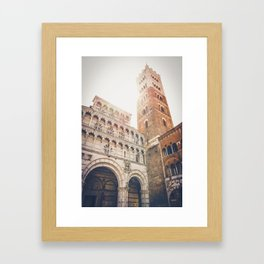 lucques Lucca cathedral san martino duomo Italy tuscany Framed Art Print
