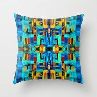mosaic Throw Pillows featuring Mosaic by Tharika Fuhrer