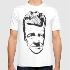 David Lynch Mens Fitted Tee MEDIUM White