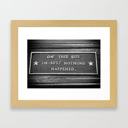 Signs: 1897 Framed Art Print