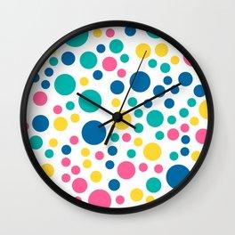 Seamless colorful bright summer circle Wall Clock