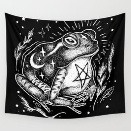 BLACK TOAD Wall Tapestry